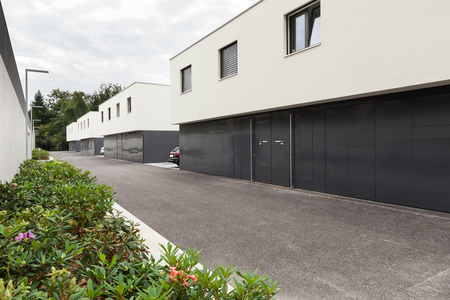 external: Architecture, modern white houses, external