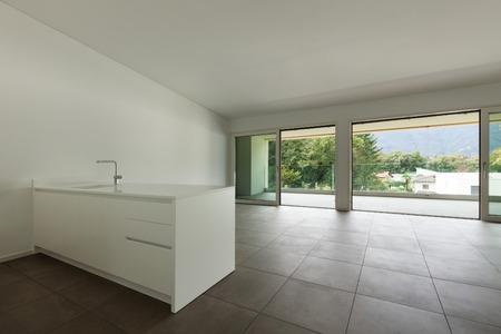interior of new apartment, modern domestic kitchen Standard-Bild