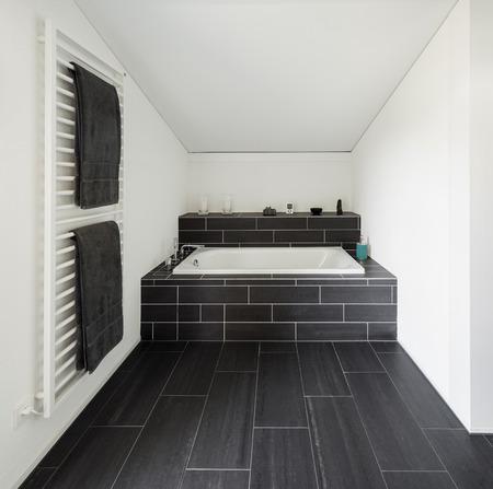 ceramiki: Architektura, nowy design tendencja, łazienka z nowoczesnym domu