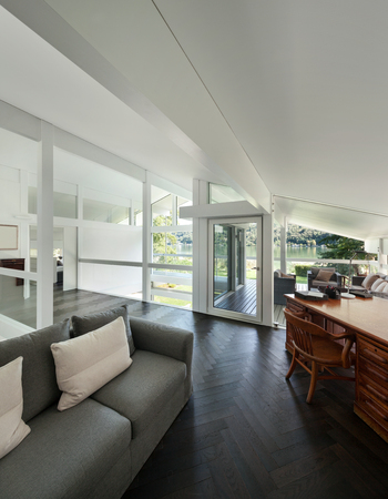 roof: Architecture, interior of a modern house, open space