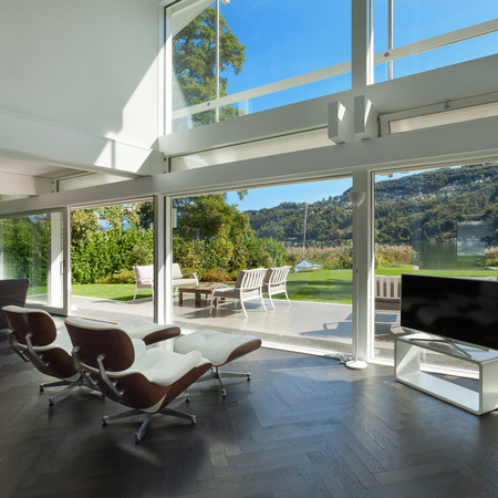 Architecture, open space of a modern house, living room