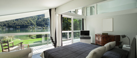 open house: Architecture, comfortable bedroom of a modern house