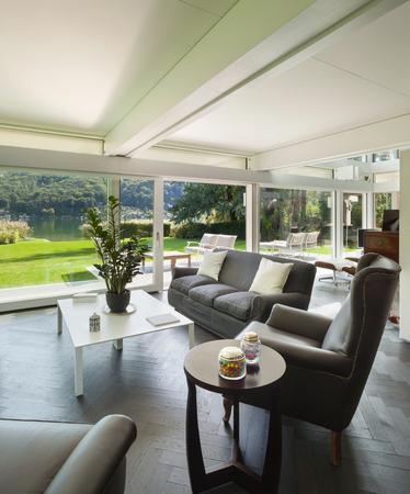 case moderne: Architettura, spazio aperto di una casa moderna, soggiorno