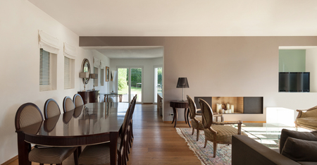 furnished: Interior of a furnished house, comfortable dining room