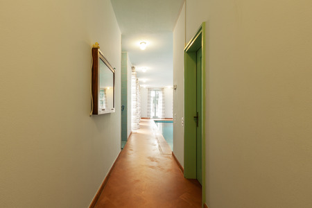 modern lifestyle: House interiors furnished, corridor Stock Photo