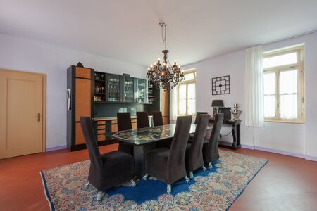 diningroom: House interiors furnished, dining room