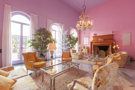 classic living room: House interiors furnished, classic style living room