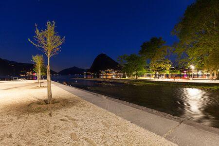 dark skies: Night Landscape, Lake Lugano