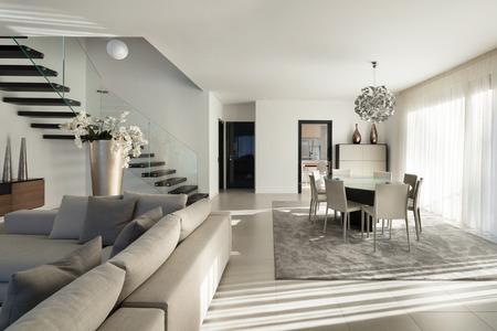 Inter einer modernen Wohnung, gemütliches Wohnzimmer