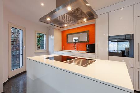 domestic kitchen: Interior of house, modern kitchen hob