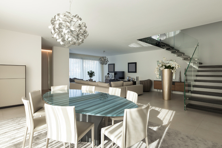 apartment living: Interior of a modern apartment, comfortable living room