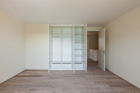 contemporary house: Interior of a new apartment, empty room with closet Stock Photo
