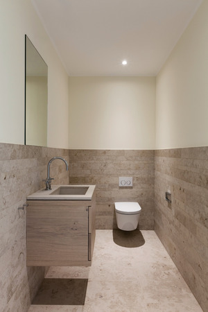 bathroom interior: Interior, modern bathroom of a new apartment Stock Photo