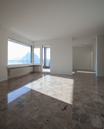 marble stone: Empty room in modern apartment