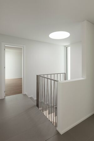 apartment building: interior of a modern apartment, view from the corridor Stock Photo