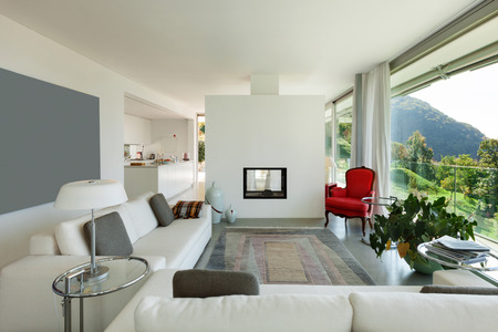 Interior of a modern house, comfortable living room