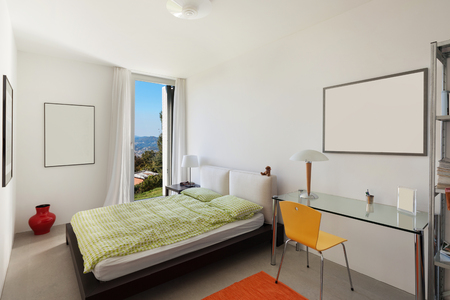 comfortable: Architecture, comfortable bedroom of a modern house