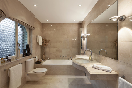 Interior of a modern house, bathroom, classic design Standard-Bild