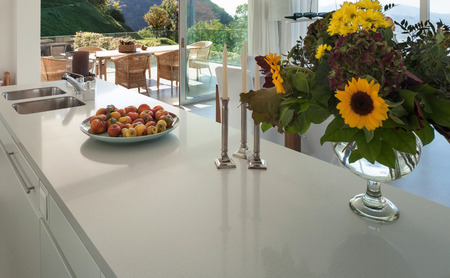 kitchen counter top: Interior of a modern villa, counter top of the kitchen