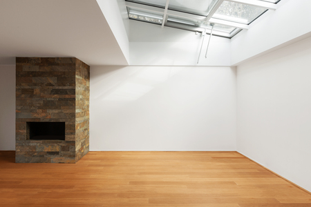 empty room: modern architecture, new empty apartment