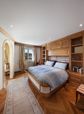 comfortable: comfortable bedroom of house in classical style