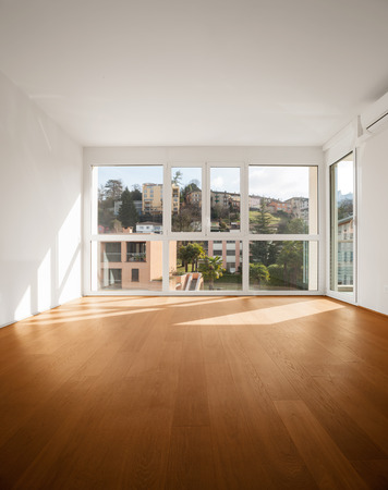 house windows: modern architecture, new empty apartment