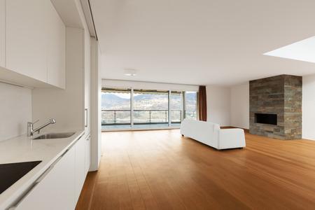livingroom: modern architecture, new empty apartment