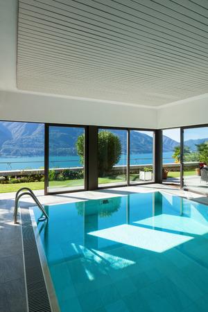 indoor: house with garden, Indoor swimming pool