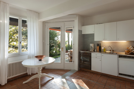 white window: domestic kitchen of a rustic house