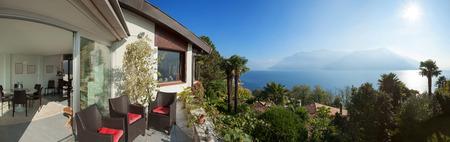 light house: veranda of a mountain home, exterior view