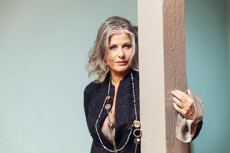 senior woman: Elegant woman Stock Photo