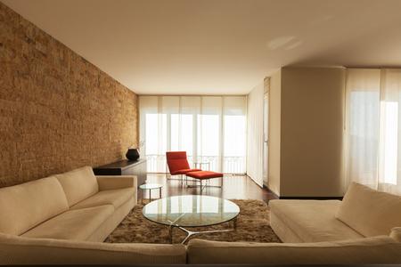 건축, 현대 집 인테리어
