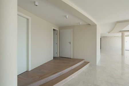 wide open spaces: empty room of a modern house Stock Photo