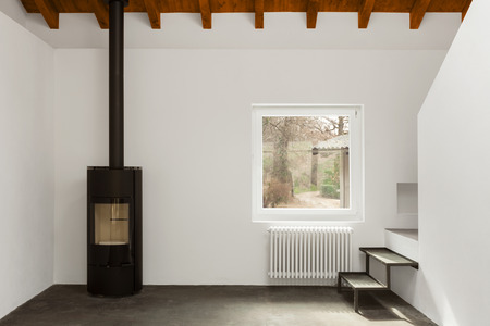 Moderne loft interieur, niemand binnen Stockfoto - 55519320
