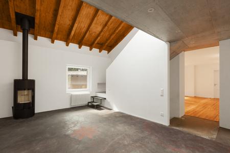 resin: Modern loft interior, nobody inside