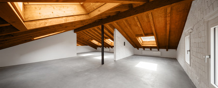 Interni moderni loft, nessuno all'interno