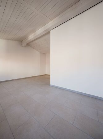 white interior: Traditional old house of central europe, empty room, interior Stock Photo
