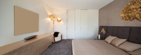 comfortable: Interiors of new apartment , comfortable bedroom
