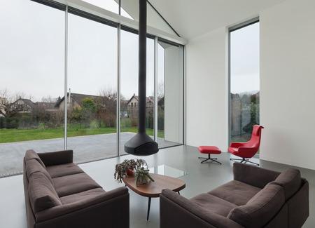 Interior of a beautiful modern house, living room Foto de archivo