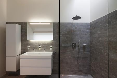 집, 욕실 현대적인 디자인의 인테리어