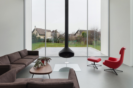 Interior of a beautiful modern house, living room Standard-Bild