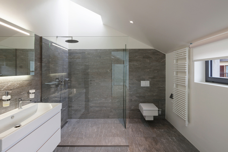 Wnętrze domu, łazienka nowoczesny design