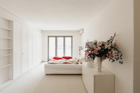 indoor inside: Modern house bedroom interior