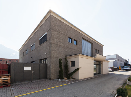 View of modern industrial building exterior