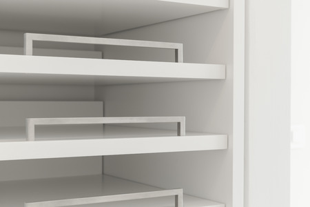 interior spaces: Detail of open closet Stock Photo
