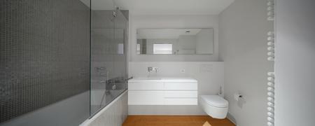 modern bathroom: Interior of modern apartment bathroom Stock Photo