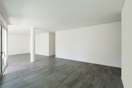 empty room: Interior of empty apartment, wide room with white walls