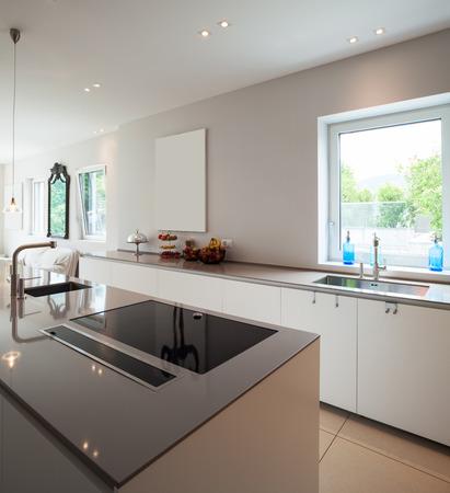 modern interior: Modern house kitchen interior