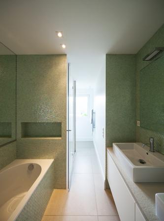 modern bathroom: Modern house bathroom interior Stock Photo