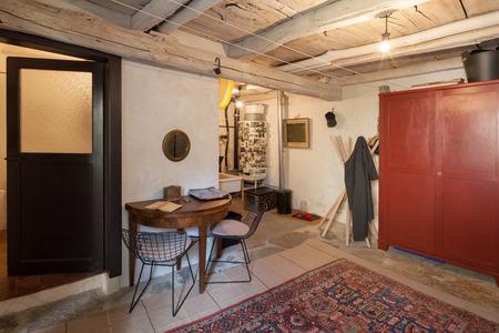 Furnished house vintage, interior